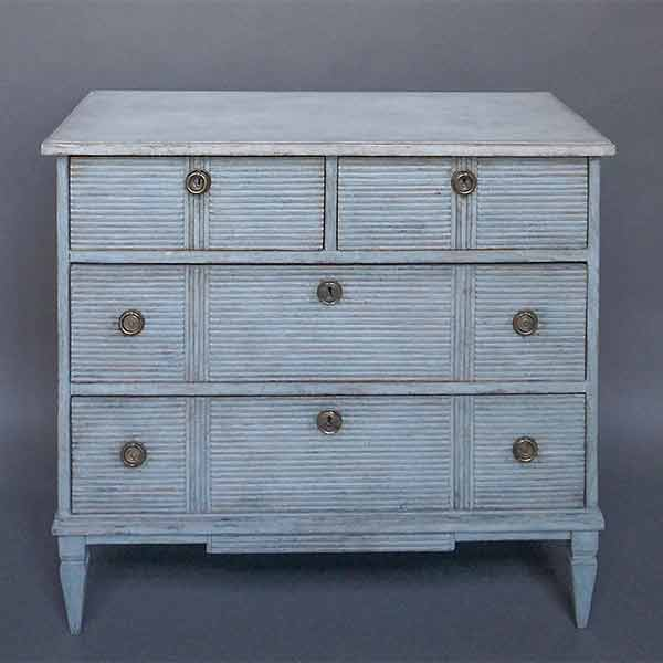 Swedish two-over-two chest of drawers
