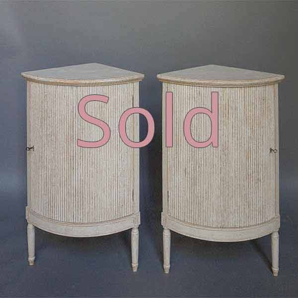 Pair of Rounded Corner Cabinets