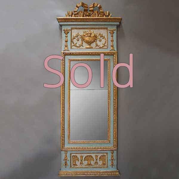 Period Gustavian Pier Mirror