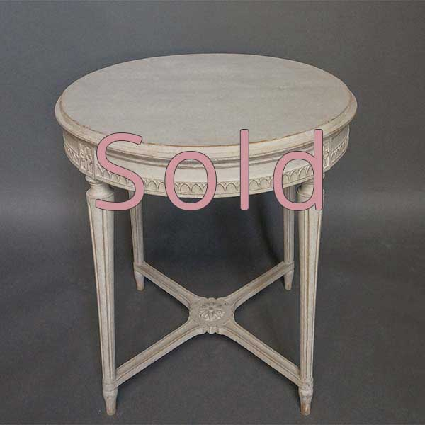 Gustavian Style Round Table