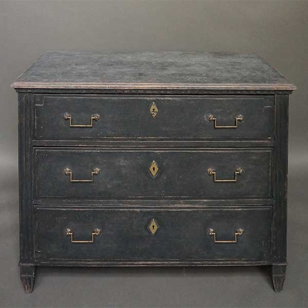 Three Drawer Chest in the Neoclassical Style