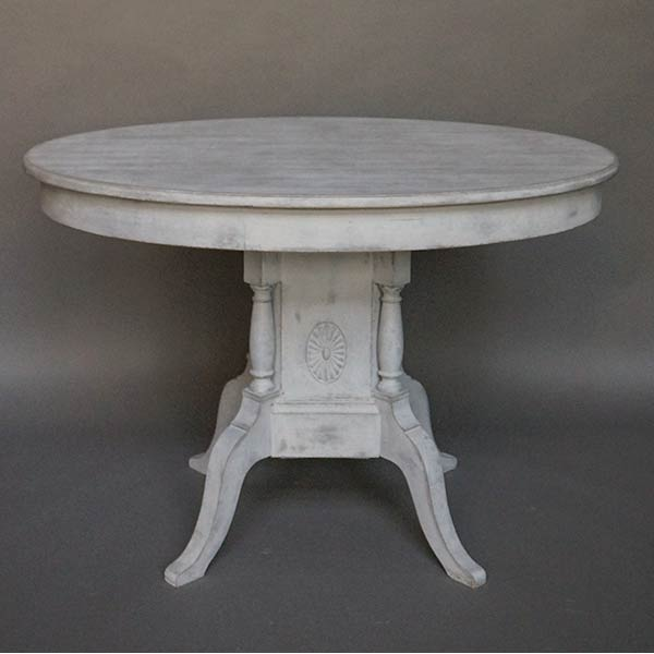 Swedish Center Table with Pedestal Base