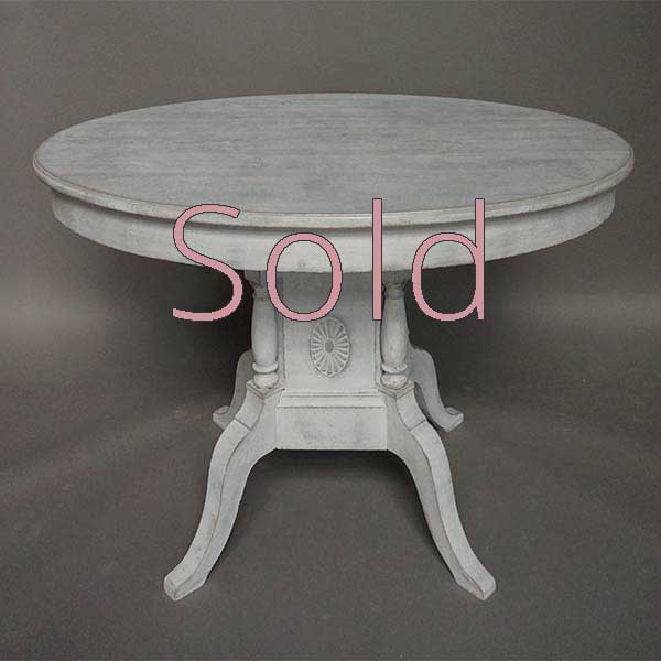 Swedish Oval Table with Rare Form