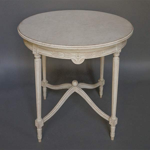 Gustavian Style Table with Arched Stretchers