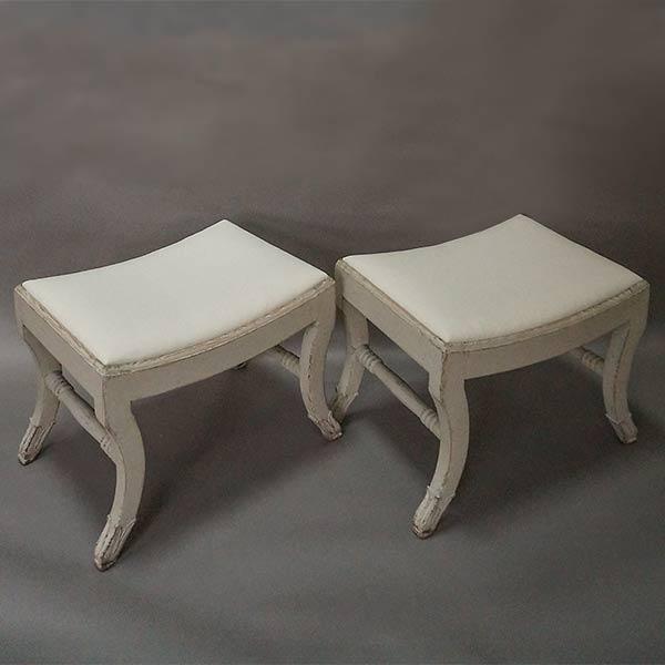 Pair of Gustavian Style Swedish Stools