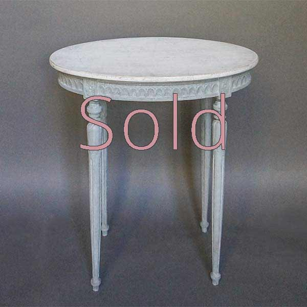 Small Serving Table in the Gustavian Style