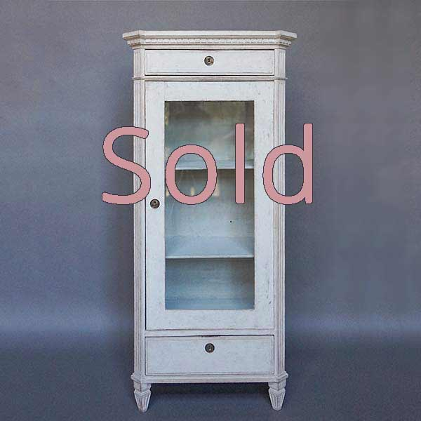 Swedish Neoclassical Style Glass Front Cabinet