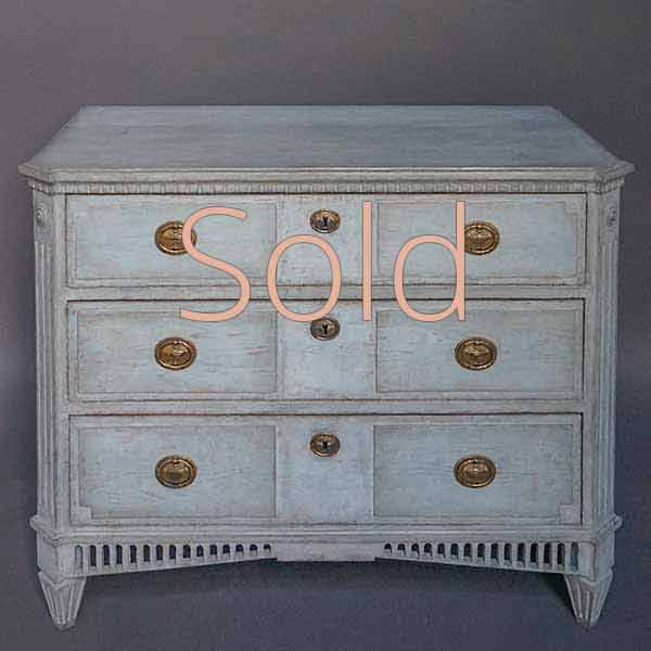 Neoclassical Three Drawer Chest