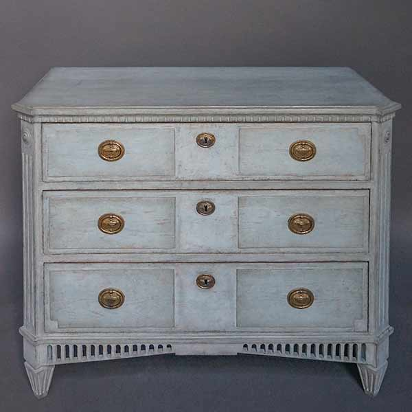 Swedish Neoclassical Three Drawer Chest