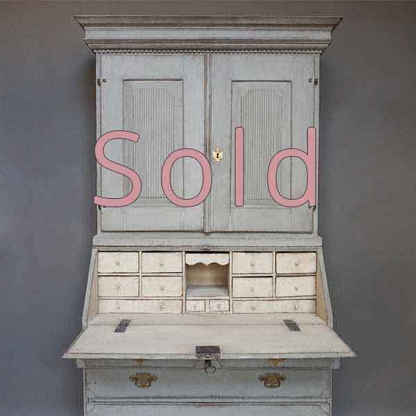 Gustavian Two Part Secretary