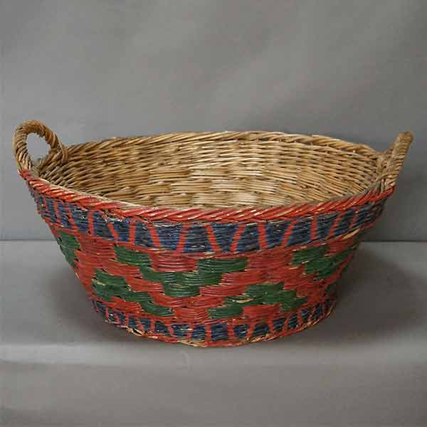 Wedding Basket in Polychrome Paint