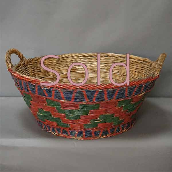 Wedding Basket in Polychrome Paint