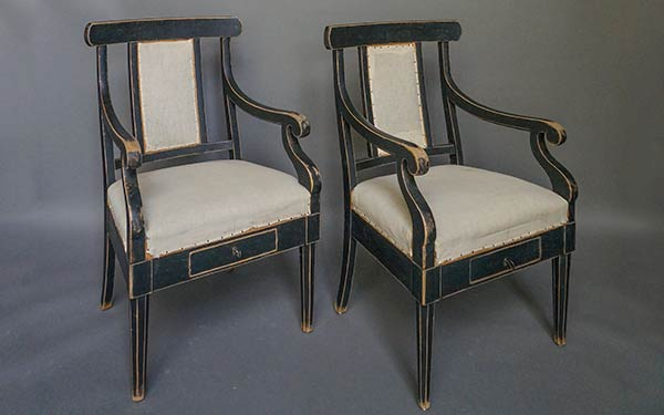 Pair of Swedish Courtroom Chairs