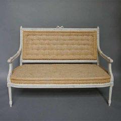 Gustavian style settee