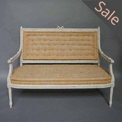 Swedish settee in the Gustavian Style