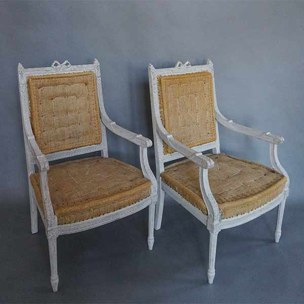 Pair of Armchairs in the Gustavian Style