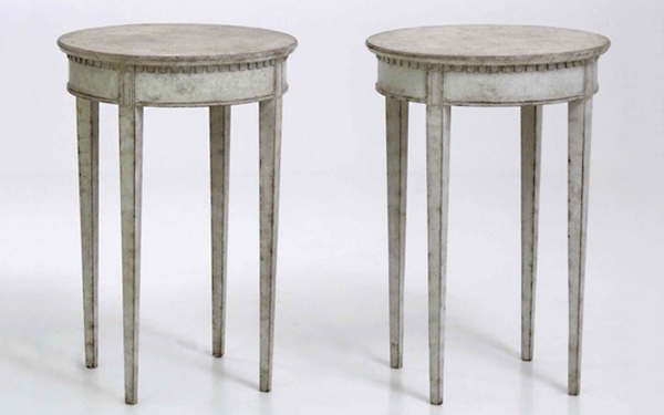 Pair of Swedish antique side tables