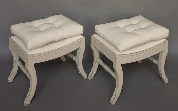 Pair of Gustavian Style Stools