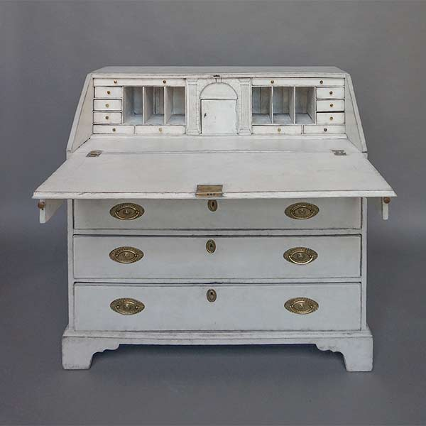 Neoclassical Writing Desk with Original Hardware