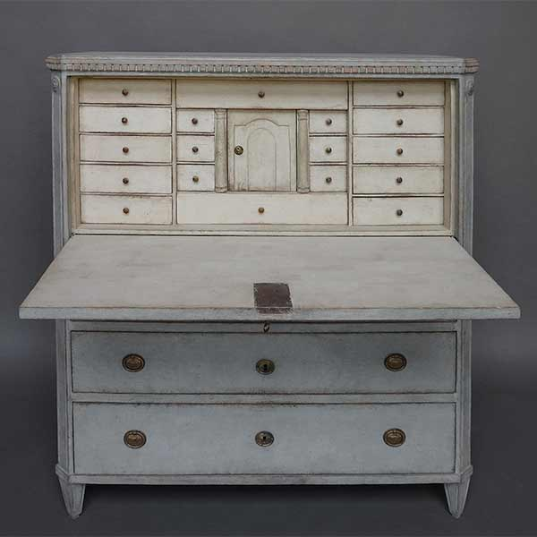Fall Front Writing Desk with Fitted Interior