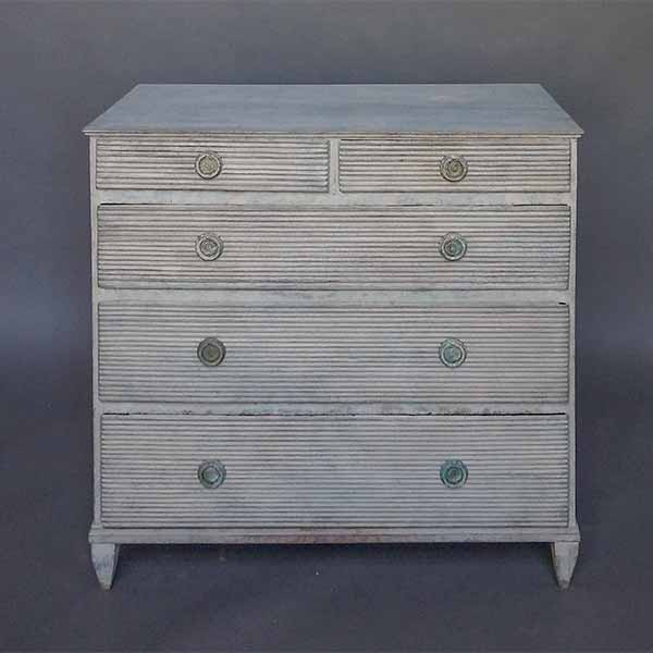 Swedish Chest with Two over Three Drawers