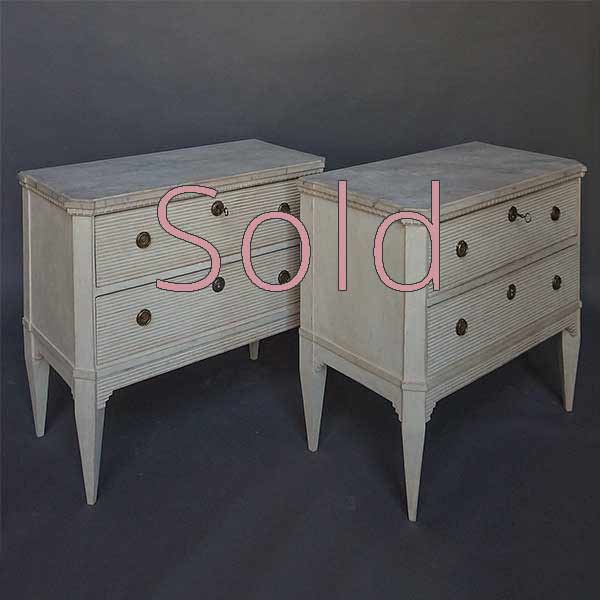 Pair of Commodes in the Gustavian Style