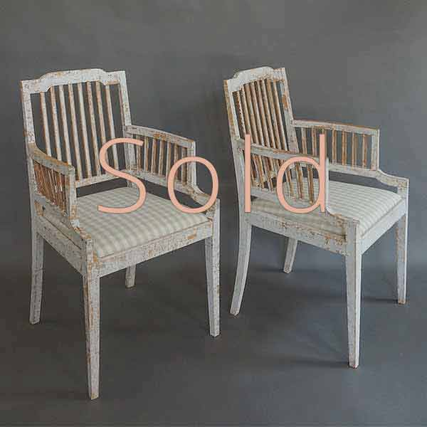Pair of Gustavian Style Stick-Back Chairs