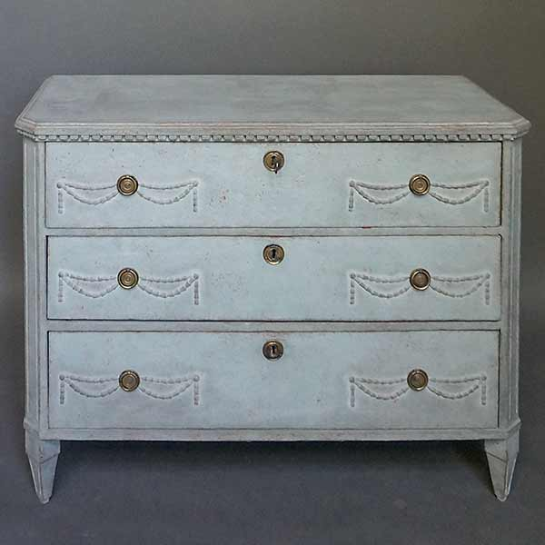 Late Gustavian Three Drawer Chest