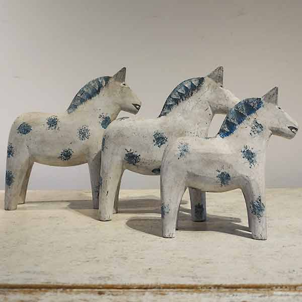 Set of Three Dala Horses