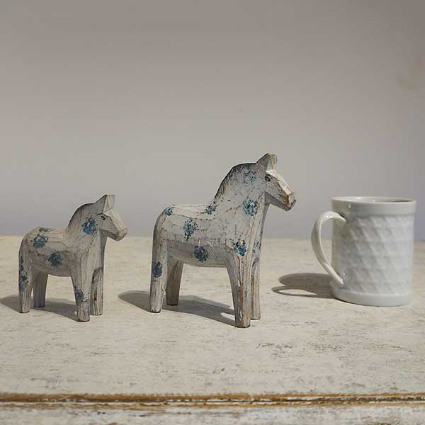 Pair of Small Dala Horses