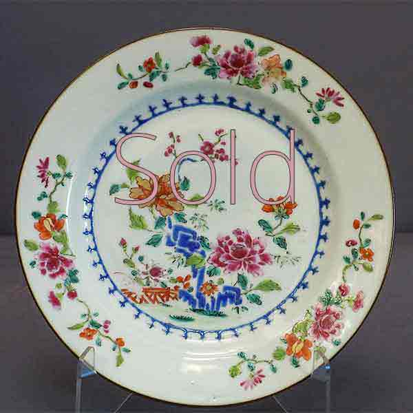 Famille Rose Chinese Export Plate