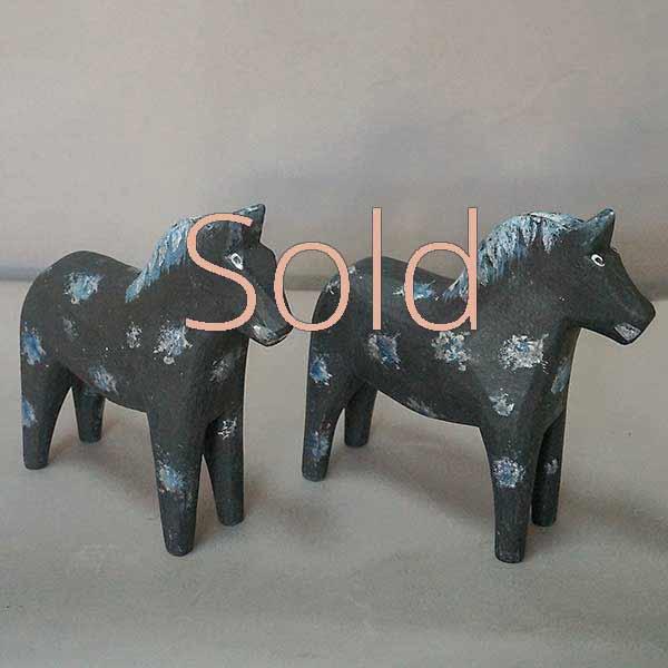 Pair of Black Dala Horses