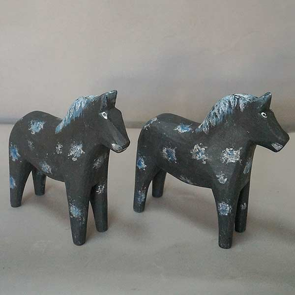 Pair of Black Dala Horses