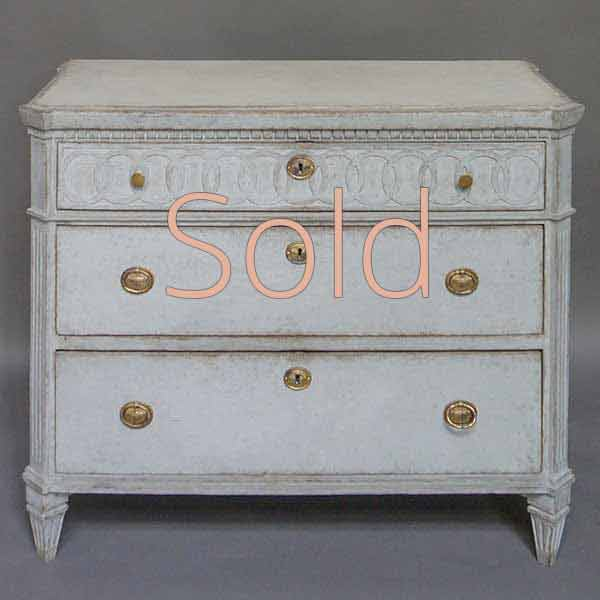Neoclassical Three-Drawer Commode