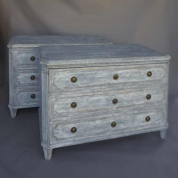 Pair of Norwegian Chests of Drawers