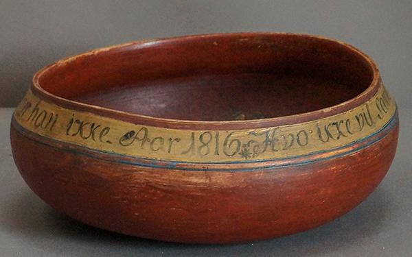 Danish Drinking Bowl Dated 1816