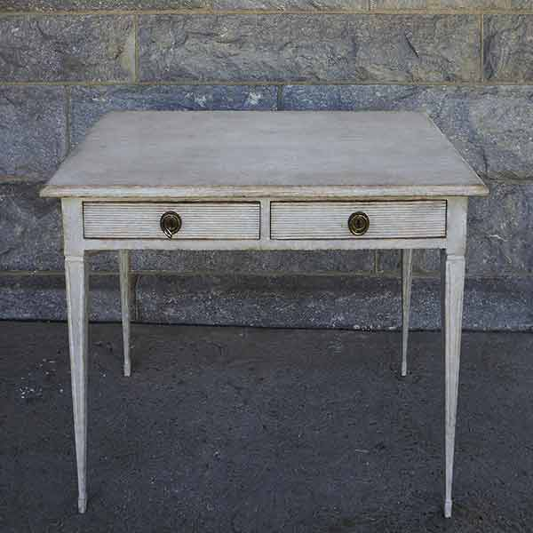 Swedish Writing Table with Drawers
