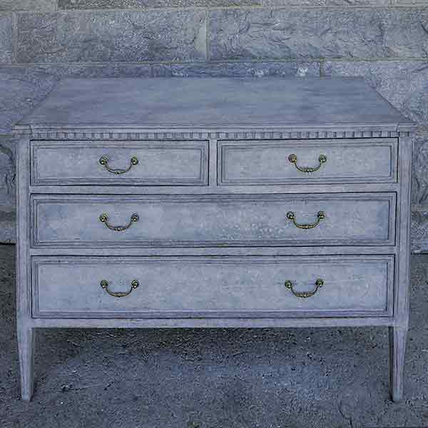 Swedish Bachelor's Chest with Two Top Drawers