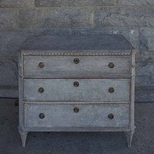 Gustavian Style Commode with Fluted Detail