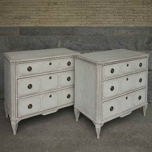 Pair of Period Neoclassical Chests