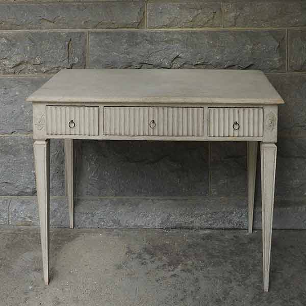 Swedish Writing Desk with Reeded Drawers